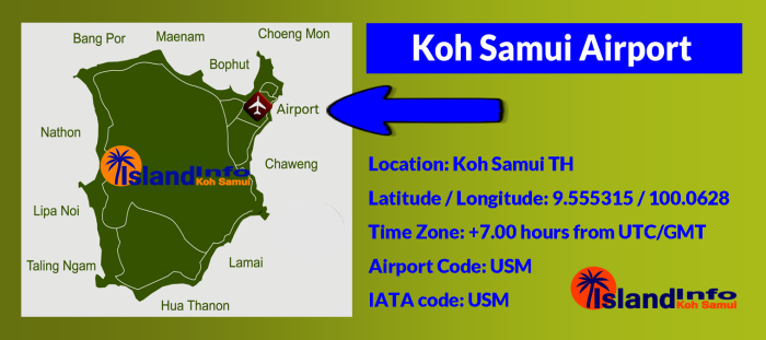 Samui International Airport - Map