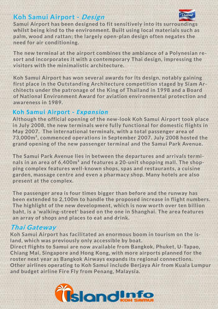 Samui Airport - Info