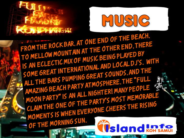 ISLAND INFO MUSIC FULL MOON PARTY