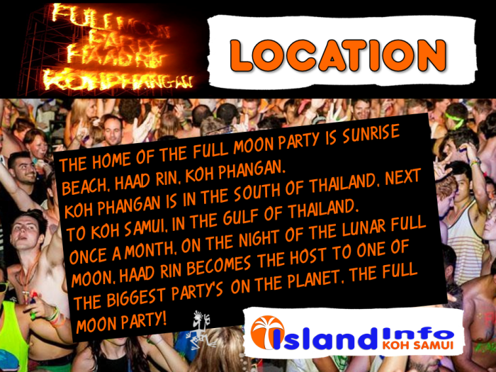 ISLAND INFO, FULL MOON LOCATION