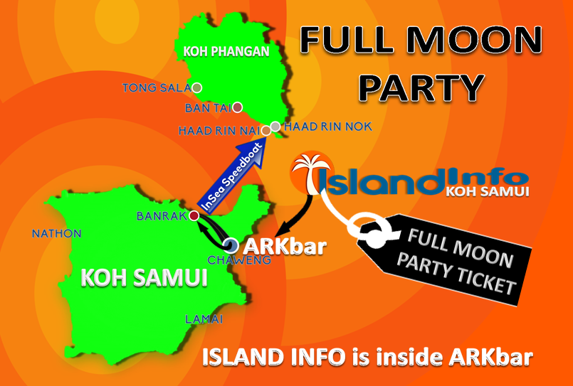full moon party location island info samui. Black Bedroom Furniture Sets. Home Design Ideas