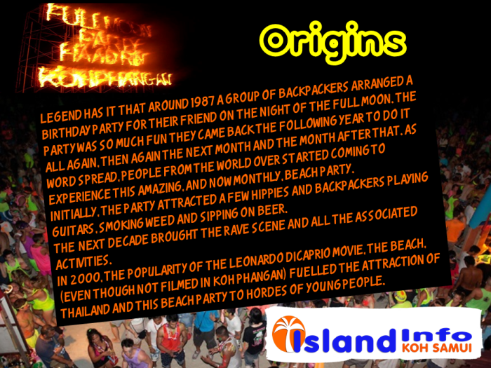 origins full moon, island info
