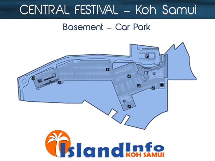 CENTRAL FESTIVAL - Floor Plan - Directory - Koh Samui - Island Info Samui - Thailand- Car Park
