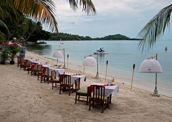 Dining on the beach in Samui-3