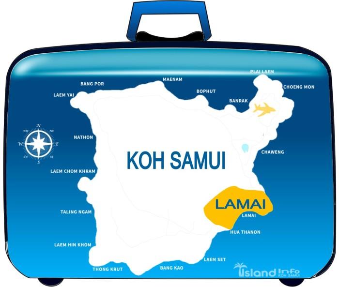 LAMAI, KOH SAMUI, MAP