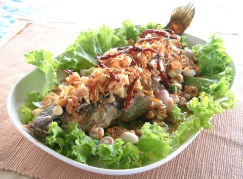 thai style whole snapper