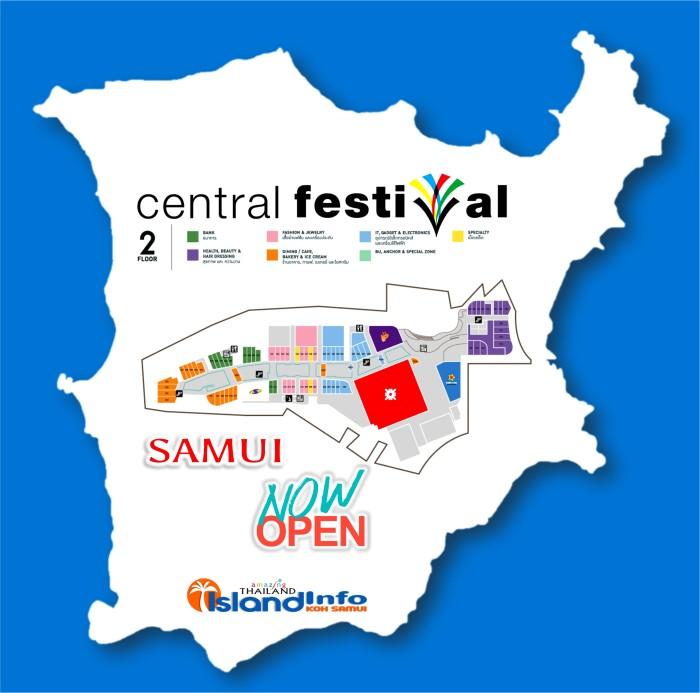 CENTRAL FESTIVAL Samui - Floor Plan - Directory - Koh Samui - Island Info Samui - Thailand - FLOOR 2