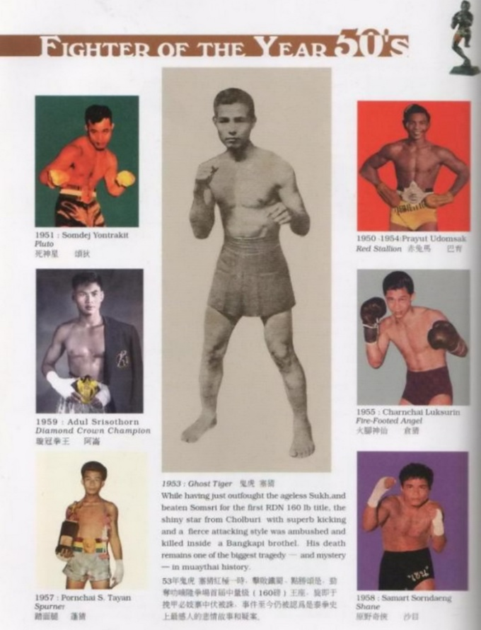 Muay Thai-Fighter-of-the-year-1930's,40's, 50's, 60's, 70's, 80's, 90's