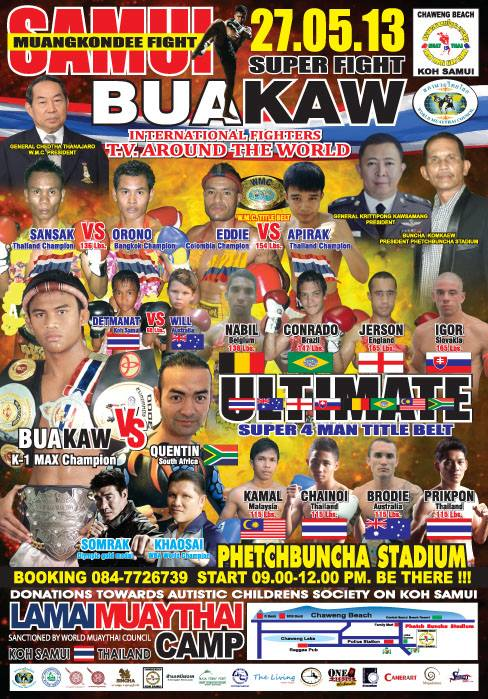Muay Thai-Phetch Buncha-Stadium-Koh Samui-Thailand-Island Info-Activities.7
