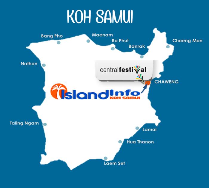 samui- centrl festival -map - Island  info Samui.