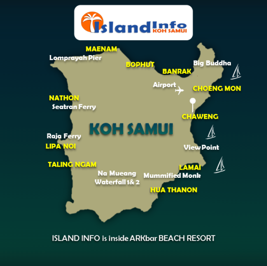 samui map with island info