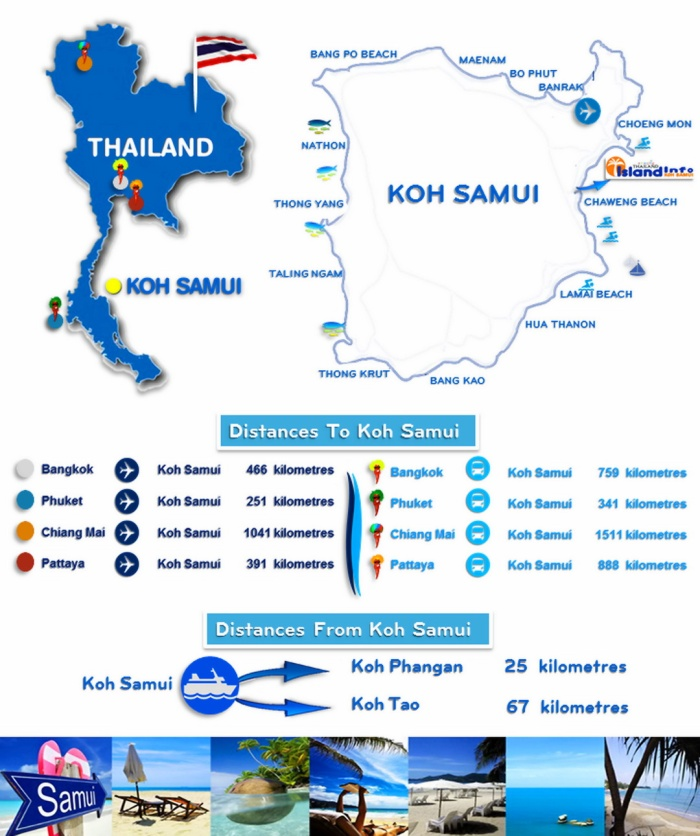 samui - thailand map