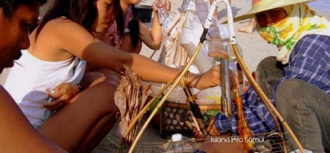 Beach Vendors-Thailand-Island Info-Samui