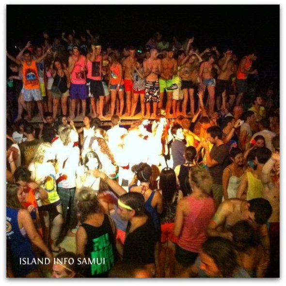 Full moon party-island info samui-tommy resort-promo