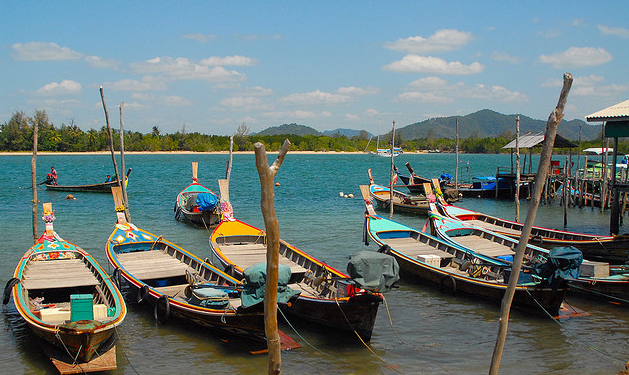 Longtail water taxi or fishing boats, Thailand.7