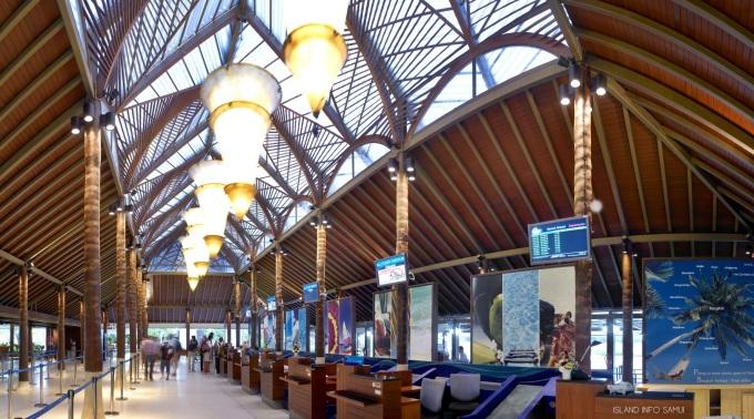 Samui-International-Airport, USM, Koh Samui, Thailand, ticket counter, info