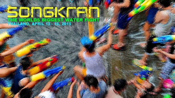 SONGKRAN THE WORLDS BIGGEST WATER FIGHT , SAMUI
