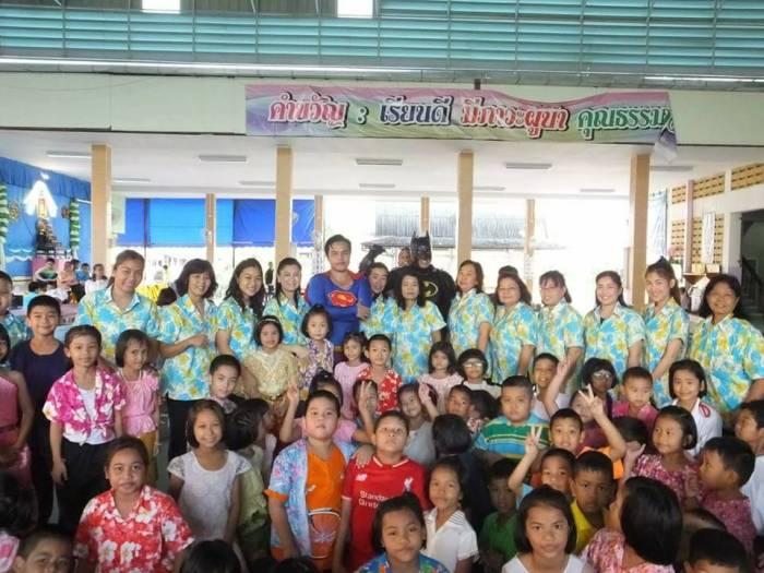 Batman at the Rajvithi Home for Girls in Bangkok