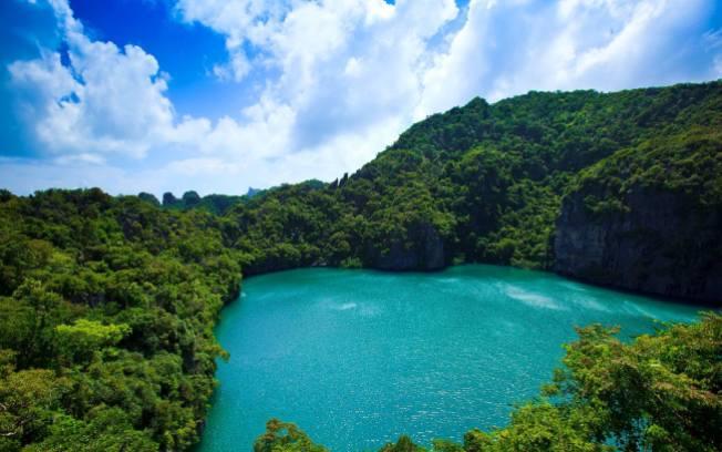Emerald Lake,Thai Talay Nai, Blue Lagoon,Hollywood movie, The Beach, Ang Thong National Marine Park, Mother Island, Mu Koh