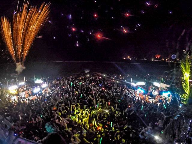 2016, New Year Countdown Party at ArkBar,Chaweng Beach, Koh Samui