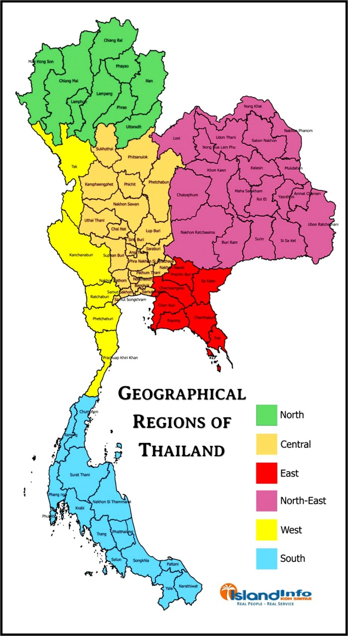 Geographical-Regions-Thailand-Provinces-Map
