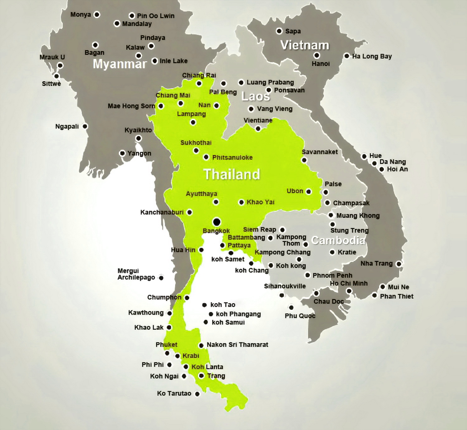 map of thailand laos and vietnam relationship