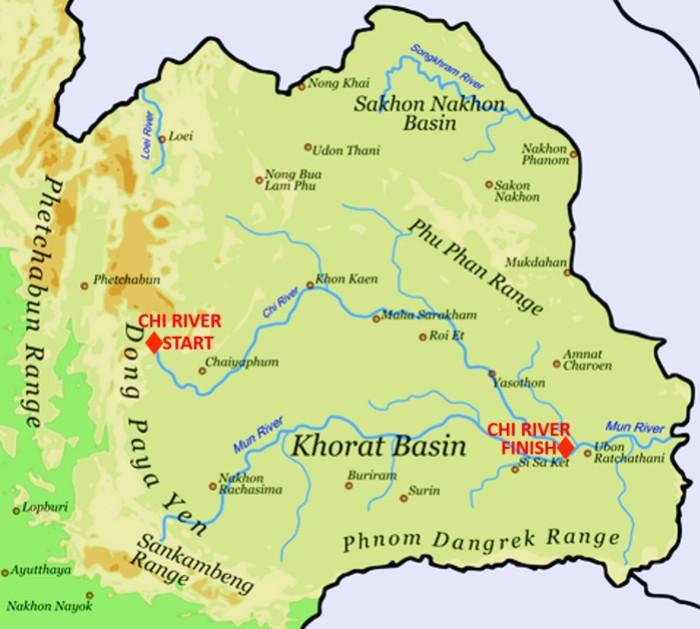 CHI RIVER, THAILAND, LONGEST, RIVER