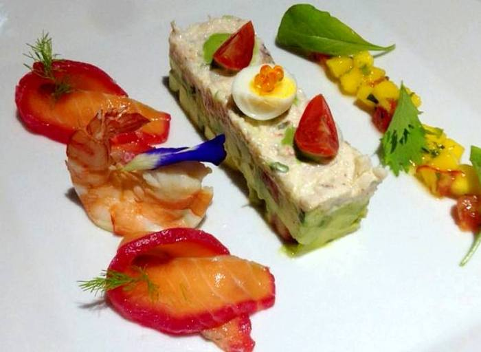 Chez Francois, seafood salad, restaurants, food, dining, eats, samui, island info samui, french