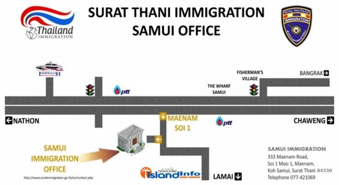 surat Thani immigration, koh samui, maenam, new office