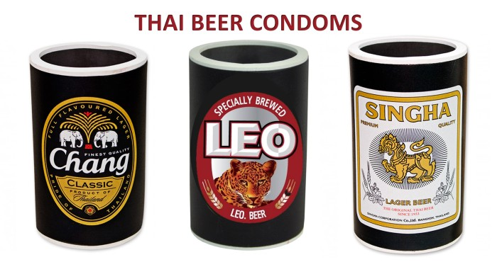 beer condoms-coolers-cold-esky-chang-leo-singha-thai-beers