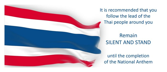 national anthem, thailand, culture, respect, silent, stand