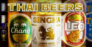 THAI BEERS. best beers in Thailand, Singha, Chang, Leo, Tiger, San Miguel light, heineken beer, Tiger beer, small